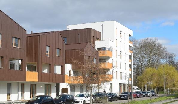 Résidence neuve, à Strasbourg Meinau