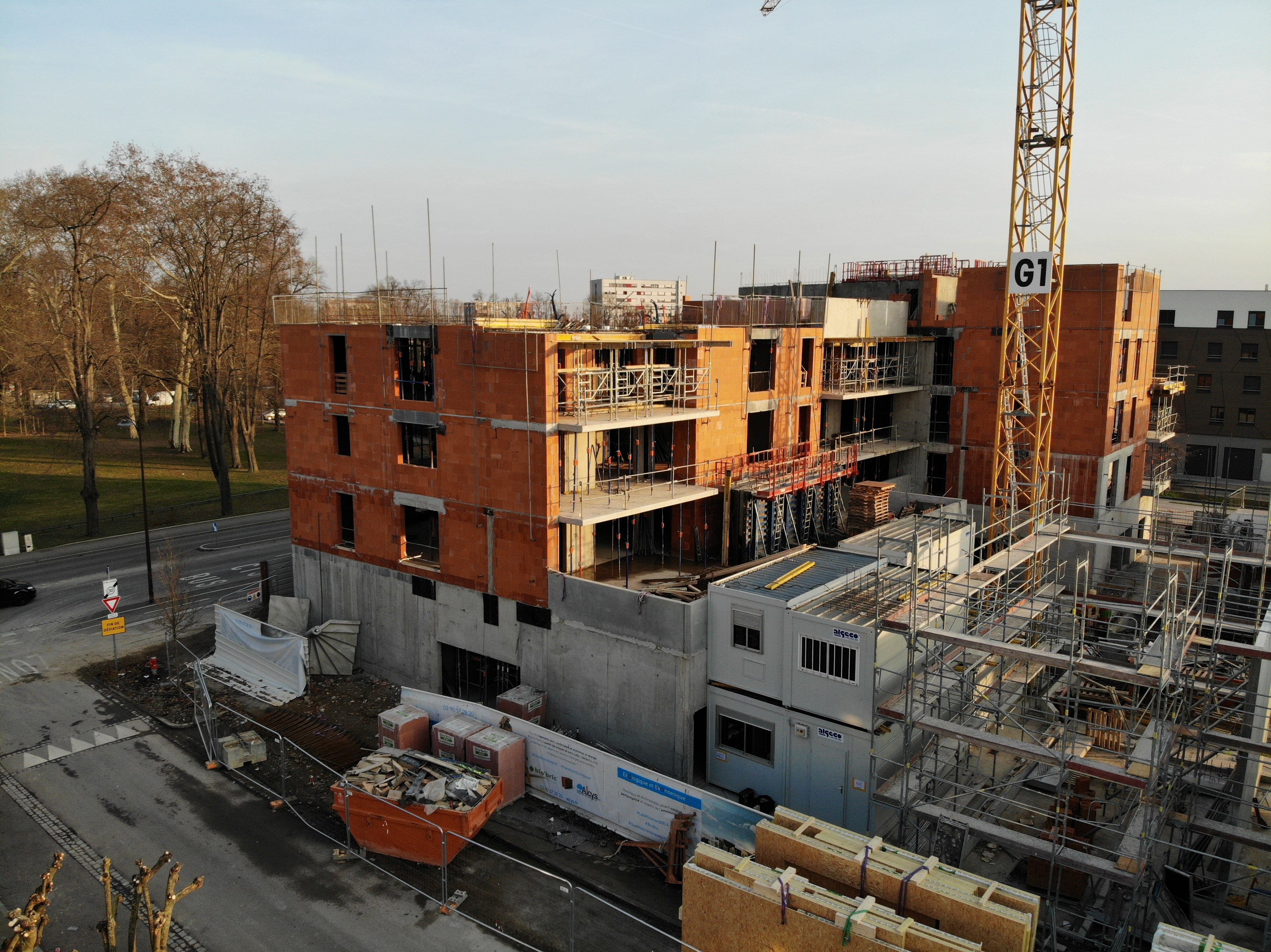 Photo du chantier de la résidence Eko2 | Strasbourg - Alcys Réalisations