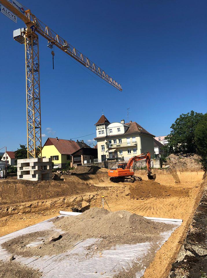 Fondations de la résidence l'Alcys à Obernai | Alcys Réalisations