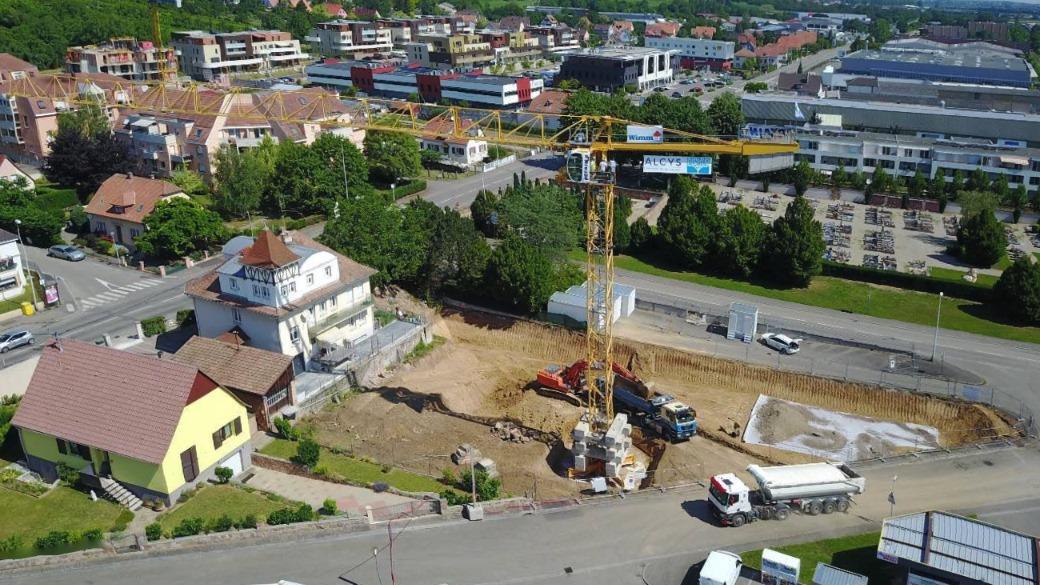Vue d'ensemble chantier l'Alcys à Obernai | Alcys Réalisations