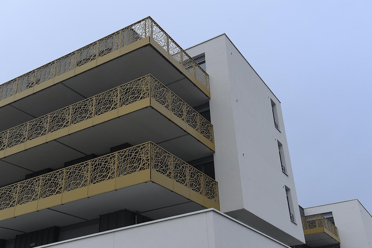 Balcon de la résidence Le Capitole à Bischeim | Alcys Réalisations