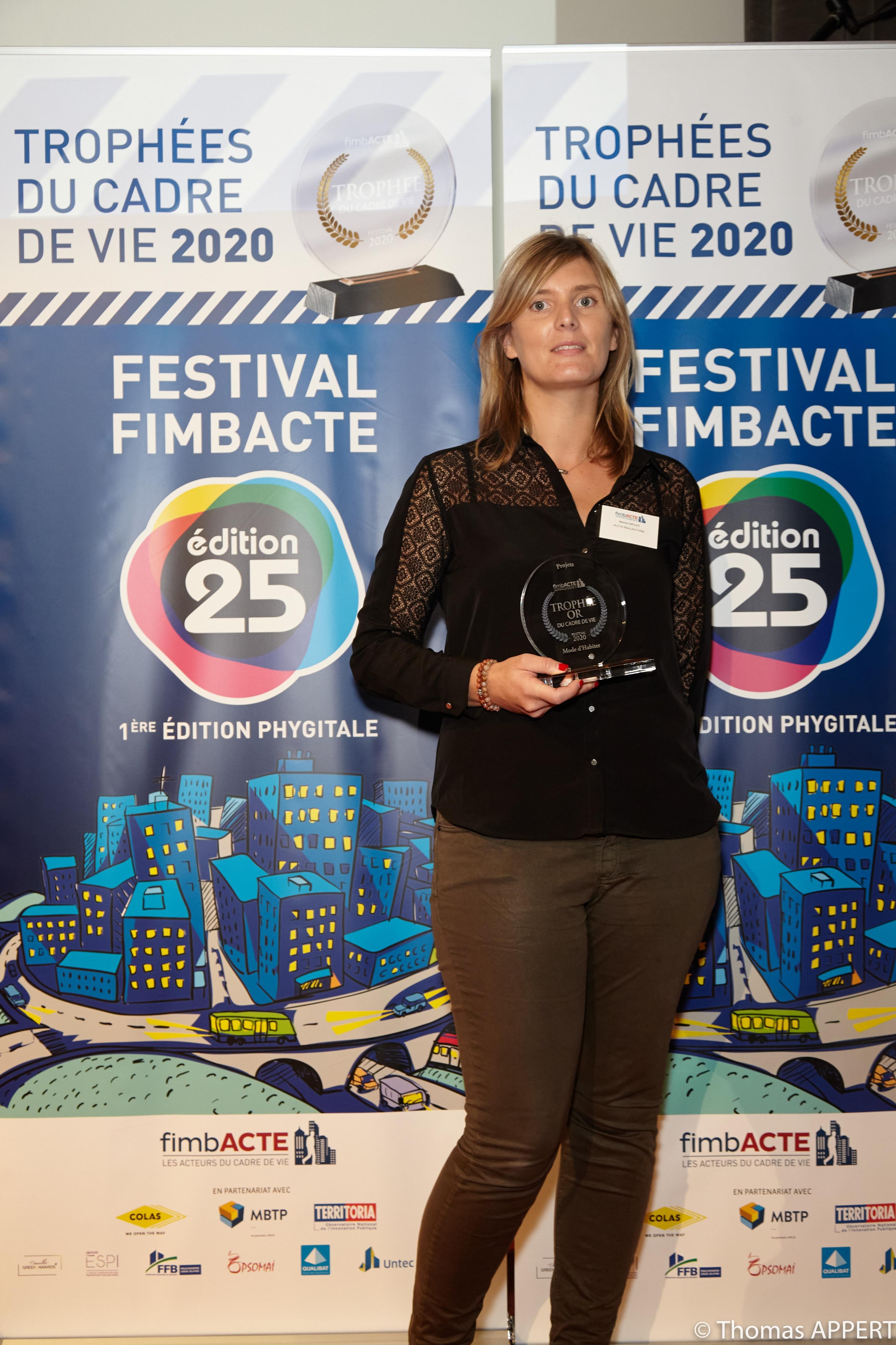 Marine Weiler d'Alcys Réalisations à la remise du Trophée Or FimbACTE | Alcys Réalisations